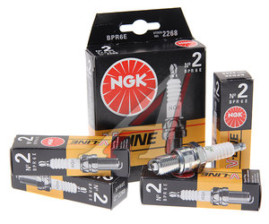Свеча зажигания ВАЗ-2108 V-LINE №2 NGK комплект 2268, BPR6E, 2108-3707010