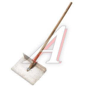 Лопата снеговая алюминиевая 500х375мм с деревянным черенком 1-но бортная 901436