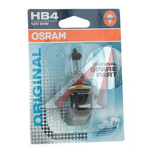 Лампа HB4/9006 12V 51W блистер OSRAM 9006-01B, O-9006бл