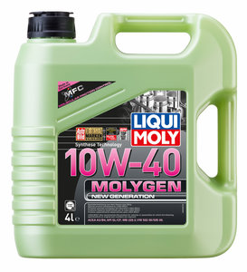 Масло моторное MOLYGEN NEW GENERATION синт.4л LIQUI MOLY LM SAE10W40 9060