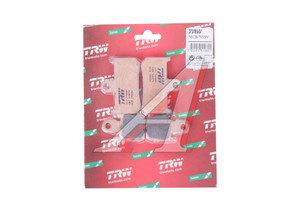 Колодки тормозные мото YAMAHA YZF1000R1 (07-08) передние (4шт.) TRW MCB795SV