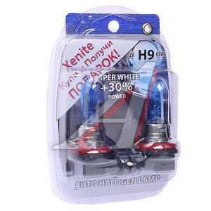 Лампа H9 12V 65W +30% + W5W/T105 (2шт.) Super White блистер (2шт.) XENITE XENITE H9 АКЦИЯ, 1007055
