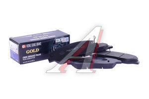 Колодки тормозные HYUNDAI Santa Fe (06-) передние (4шт.) HSB HP0033, GDB3418, 58101-2BA10
