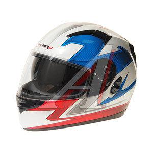 Шлем мото (интеграл) MICHIRU Tricolor (с солнцезащитным стеклом) MI 162 S, 4680329005571