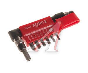 "Набор бит 1/4"" TORX T10-40 с Г-образным воротком на планке 8 предметов ROCK FORCE RF-2081"
