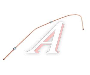 Трубка тормозная УРАЛ к буксирному клапану в сборе дв.ЯМЗ L=805мм/d=6мм медь 5557Я-3506076