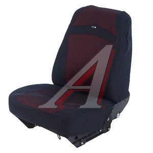 Авточехлы универсальные эластик (AIRBAG 2 молнии) красные Carbon H&R 10501 H&R