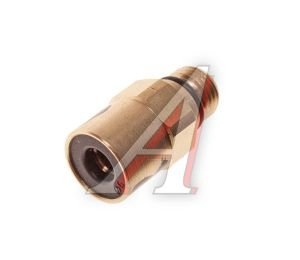 Соединитель трубки ПВХ,полиамид d=6мм (наружная резьба) М10х1 прямой латунь CAMOZZI 9512 6-M10X1