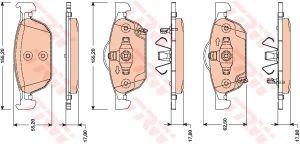 Колодки тормозные HONDA Accord 9 (2.0/2.4) (MКПП) (08-) передние (4шт.) TRW GDB3476, 45022TL1G01/45022TL1G00