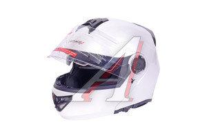 Шлем мото (модуляр) MICHIRU белый жемчуг MF 120 L