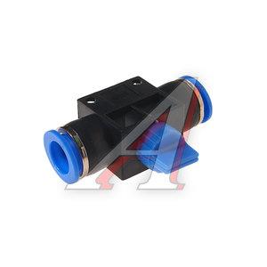 Фитинг для пластиковых трубок 12x12мм с краном ROCK FORCE RF-SHVFF12-12