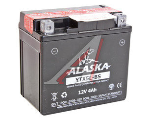 Аккумулятор ALASKA 4А/ч мото 6СТ4YTX5L-BS, 83506, YTX5L-BS
