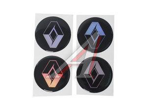 """Эмблема диска колесного """"RENAULT"""" (6см) комплект 4шт. 02566"""