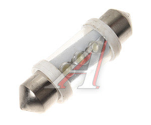 Лампа светодиодная 12V C5W SV8.5/8 36мм салона белая 3 светодиода NORD YADA T11x36-S8,5 (3LED), 900301