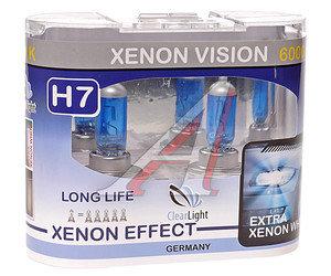 Лампа H7 12V 55W Xenon Vision бокс (2шт.) CLEARLIGHT MLH7XV