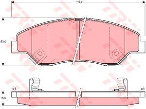 Колодки тормозные KIA Sportage (-03), Sportage New (Калининград) передние (4шт.) TRW GDB3241, 0K045-33-23Z