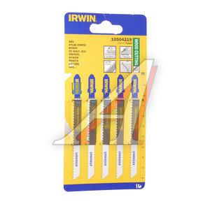 Пилка для лобзика набор 5шт. дерево HCS 100мм IRWIN 10504219, T101B