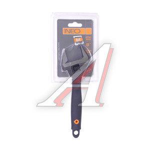 Ключ разводной 200х40мм с прорезиненной ручкой NEO ПРОФИ 03-014,