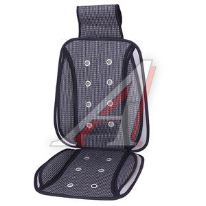 Накидка на сиденье массажная плетеный бамбук 1шт. черная PSV 112826, 112826 PSV,