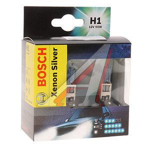 Лампа H1 12V 55W Xenon Silver бокс (2шт.) BOSCH 1987301080, А12-55(Н1)