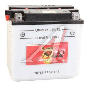 Аккумулятор BANNER Bike Bull 16А/ч 6СТ16 YB16B-A1 516 015 016