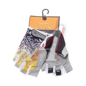 Перчатки велосипедные gel-silicon желтые HANDCREW,