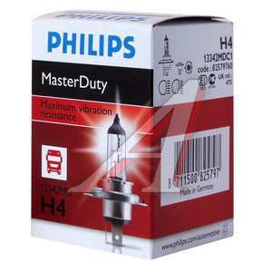 Лампа 24V H4 75/70W P43t-38 Master Duty PHILIPS 13342MDC1, P-13342MD, АКГ 24-75-70 (Н4)