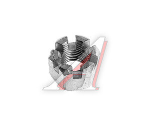 Гайка М12х1.25х14 ЗИЛ прорезная опоры двигателя передней ЭТНА 250869-П29, 250869-0-29