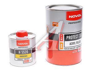 Грунт серый 300 MS 4:1 1л с отвердителем Н5520 0.25л NOVOL NOVOL PR300