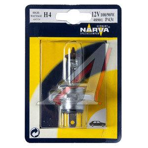 Лампа 12V H4 100/90W P43t блистер (1шт.) NARVA 48901B1, N-48901бл