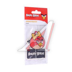Ароматизатор подвесной пластина (малина) Girl Angry Birds PRIDE 073007, AB007