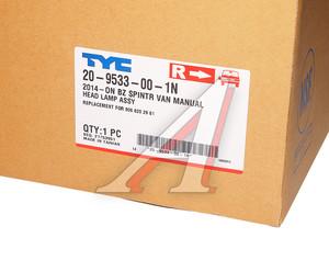 Фара MERCEDES Sprinter (14-) правая TYC 20-9533-00-1N, 9068202961