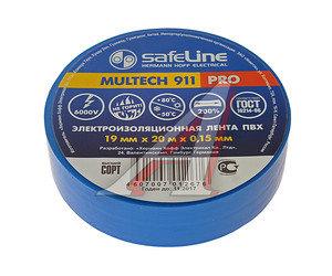 Изолента ПВХ синяя 19ммх20м SAFELINE 9371, SAFELINE 19х20