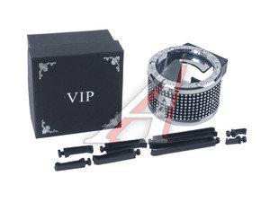 Держатель банок BLACK/CHROME с креплением на дефлектор VIP AV01,
