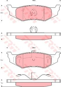 Колодки тормозные CHRYSLER PT Cruiser задние (4шт.) TRW GDB4119, 05083071AA