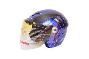 Шлем мото (открытый) MICHIRU синий MO 110 Тип 10 M, 4610013549975