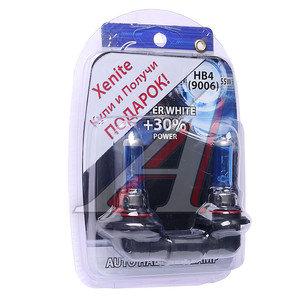Лампа HB4/9006 12V 55W +30% + W5W/T105 (2шт.) Super White блистер (2шт.) XENITE XENITE 9006 АКЦИЯ, 1007059
