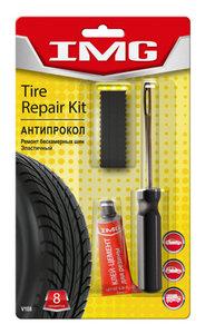Набор для ремонта бескамерных шин (шило, клей, 6 жгутов резиновых) VICTOR VICTOR V108, V108