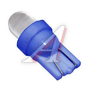 Лампа 12VхW5W (W2.1х9.5d) ROUND BLUE 1 свет-од MEGA ELECTRIC ME-0407B, А12-5-2