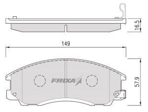Колодки тормозные HYUNDAI Terracan (01-) передние (4шт.) HANKOOK FRIXA FPH12, 58101-H1A10