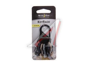 Брелок для ключей с пластиковыми карабинами милитари NITEIZE KRK-03-01BG