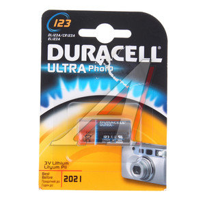Батарейка A123 ВС1 3V Lithium Ultra Foto (фотоаппарат) блистер (1шт.) DURACELL D-123Aбл
