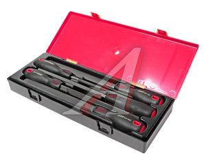 Набор напильников 200мм разнопрофильных с пластиковыми рукоятками в кейсе 5 предметов JTC JTC-K8052