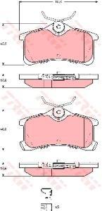 Колодки тормозные TOYOTA Avensis (00-) задние (4шт.) TRW GDB3334, 04466-02060