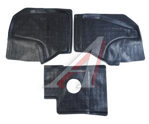 Коврик салона GAZEL Next резина черный с перемычкой (3 предм.) ДВА КОЛЕСА ADRAVG247 (55-22-100), Два Колеса