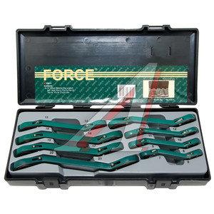 Набор ключей трещоточных 6-22мм 12-ти гранных 15град. в кейсе 8 предметов FORCE F-50811