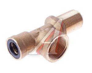 Соединитель трубки ПВХ,полиамид d=12мм (внутр.резьба) М20х1.5,(наруж.резьба) М20х1.5 тройник CAMOZZI 9420 12-M22X1.5-M20X1.5-S01