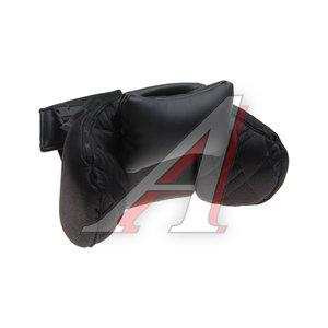 Подушка на подголовник ортопидическая черная экокожа черная Сomfort AUTOPROFI COM-0250HR BK/BK