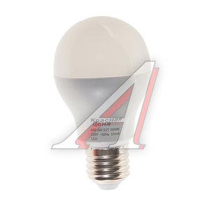 Лампа светодиодная E27 A60 6W (40W) теплый КРАСНАЯ ЦЕНА 4606400615828