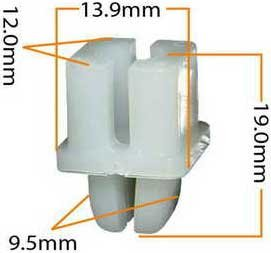 Пистон обивки универсальный KJ-016 MASUMA KJ-016